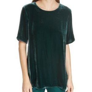 Eileen Fisher boxy short sleeve velvet top 9109